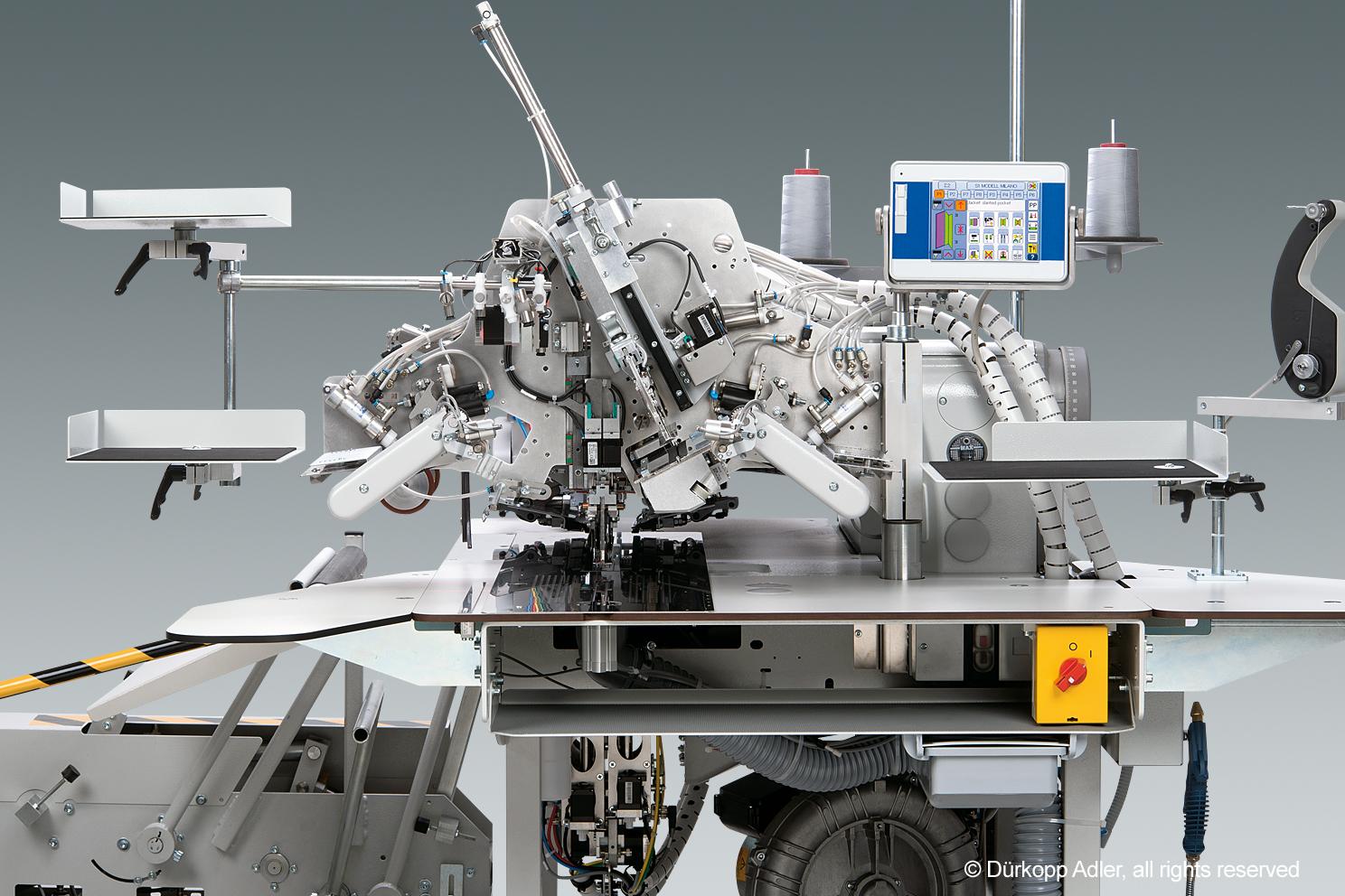 Tam otomatik besleme sistemli, CNC step motor teknolojisine sahip düz ve eğik cep fleto dikiş üniteleri