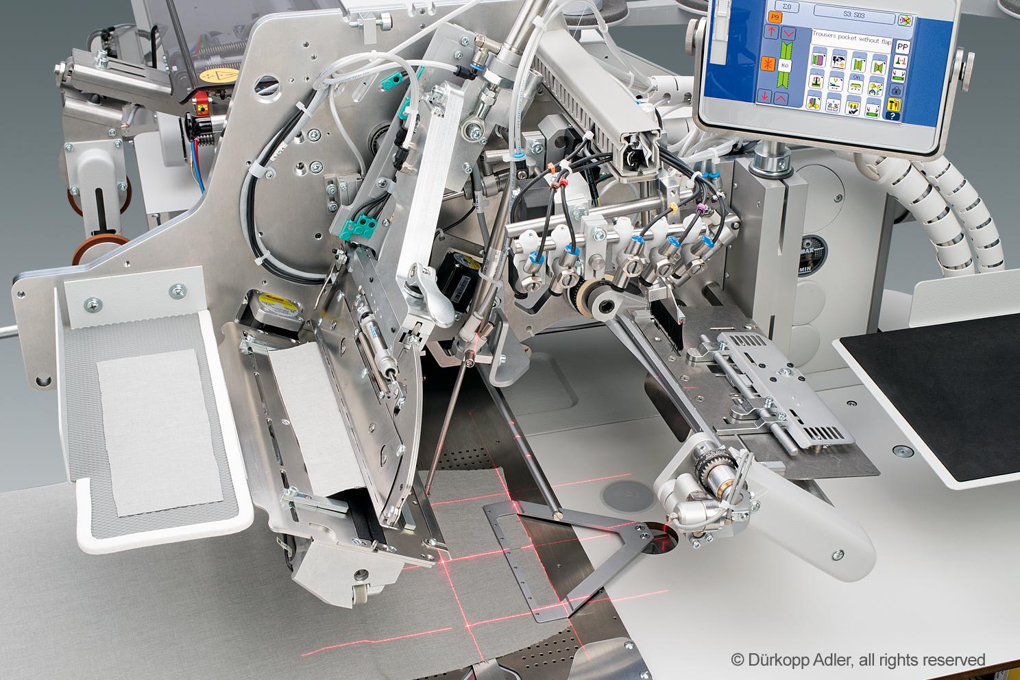 Tam otomatik besleme sistemli, CNC step motor teknolojisine sahip düz cep fleto dikiş üniteleri